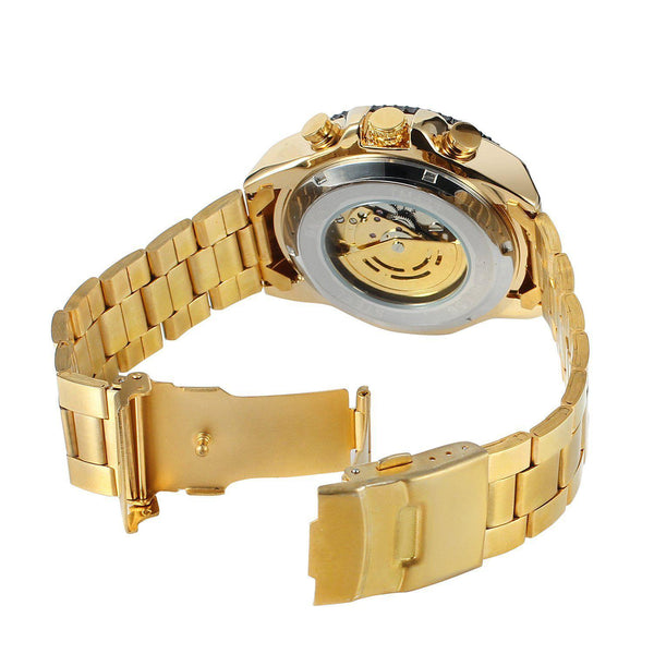 Trendinggate.com Men's Watches WINNER Golden mechanical watch