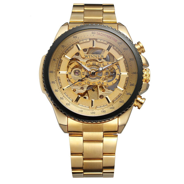 Trendinggate.com Men's Watches All gold WINNER Golden mechanical watch