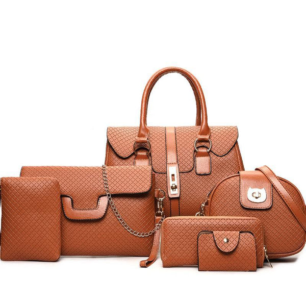 Trendinggate.com Yellowish brown women bagsSix sets of mother-and-child bags