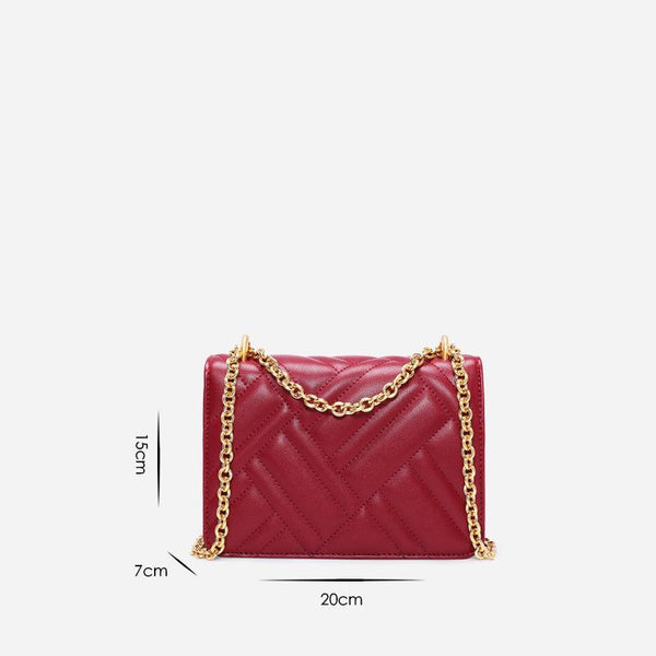 Trendinggate.com Women's bag 2019 new car sewing vertical pattern chain single shoulder bag leather women's bag manufacturer customized Guangzhou one hair substitute
