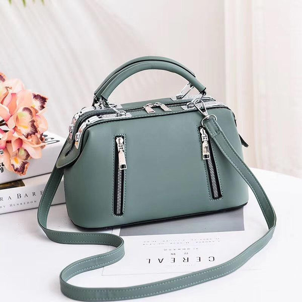 Trendinggate.com Green Women's Bag Autumn 2019 New and Fresh Steel Clamp Handbag Fashion Korean Edition Single Shoulder Bag Occidental Recreational Slant Bag Wholesale