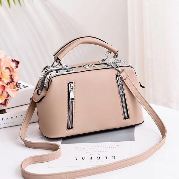 Trendinggate.com [医]khaki Women's Bag Autumn 2019 New and Fresh Steel Clamp Handbag Fashion Korean Edition Single Shoulder Bag Occidental Recreational Slant Bag Wholesale