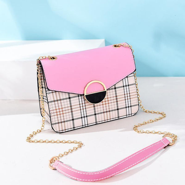 Trendinggate.com 1Pink Women's bags 2019 Korean fashion summer new women's bags fresh Joker handbag shoulder Messenger bag
