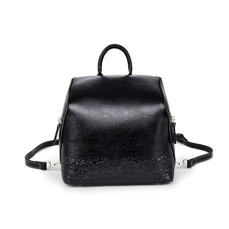 Trendinggate.com Women's handbag 2019 autumn women's bag backpack Korean Vintage embossed leather back to school season wish student bag