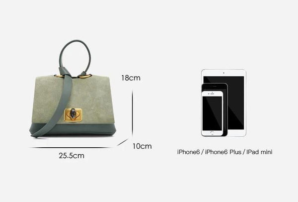 Trendinggate.com Women's handbag in hand leather 2019 new high-end fashion large capacity suede texture versatile One Shoulder Messenger Bag