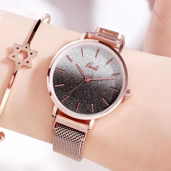Trendinggate.com Gradually black women watches Women's Watches with Waterproof Steel Belt for Female Students
