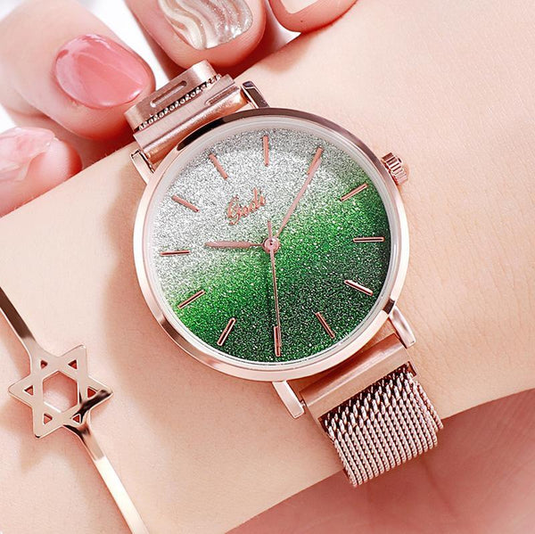 Trendinggate.com Gradually green women watches Women's Watches with Waterproof Steel Belt for Female Students