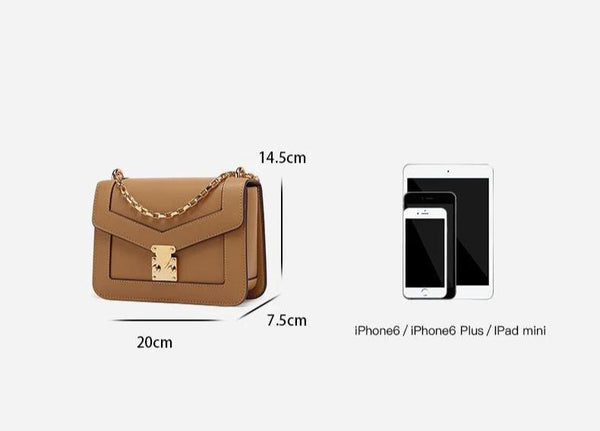 Trendinggate.com Xiaozhong Design Summer messenger bag 2019 new chain bag leather shoulder bag Guangzhou cow leather bag customization
