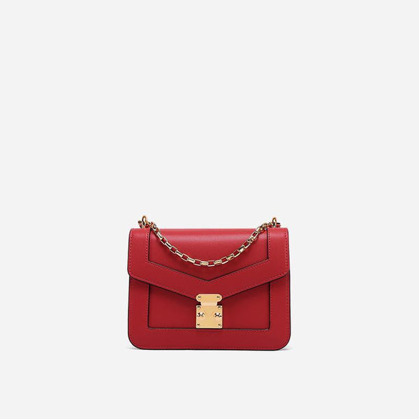 Trendinggate.com Anna Red Xiaozhong Design Summer messenger bag 2019 new chain bag leather shoulder bag Guangzhou cow leather bag customization