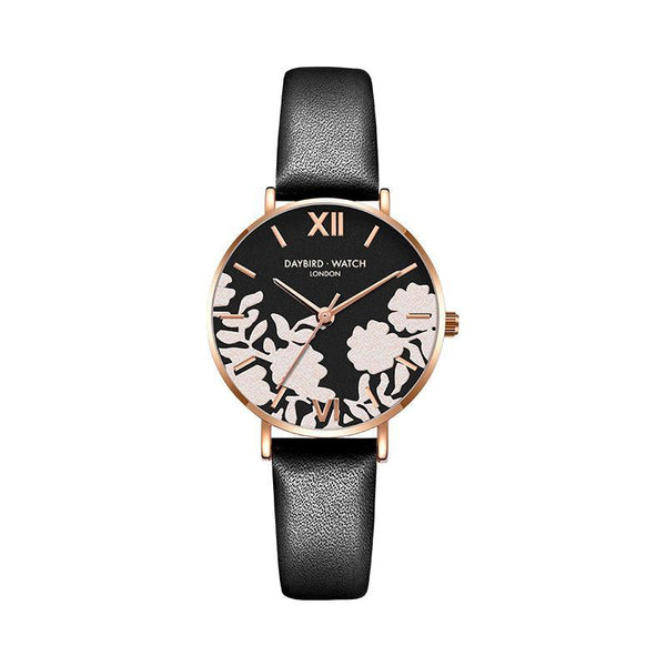 Trendinggate.com Elegant black belt Z.G.TWatch Lady Bees Wrist Garden Series Chatter with Light Luxury French Ladies Watch