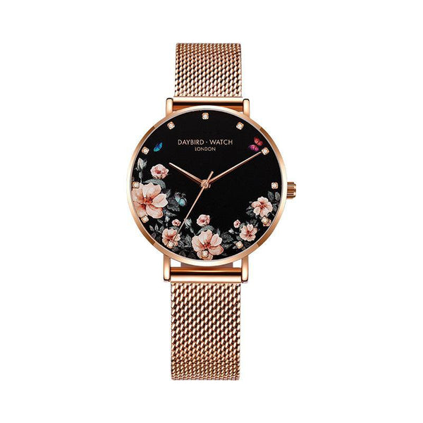 Trendinggate.com Elegant drilling black net belt Z.G.TWatch Lady Bees Wrist Garden Series Chatter with Light Luxury French Ladies Watch