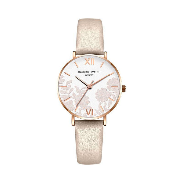 Trendinggate.com Elegant white belt Z.G.TWatch Lady Bees Wrist Garden Series Chatter with Light Luxury French Ladies Watch