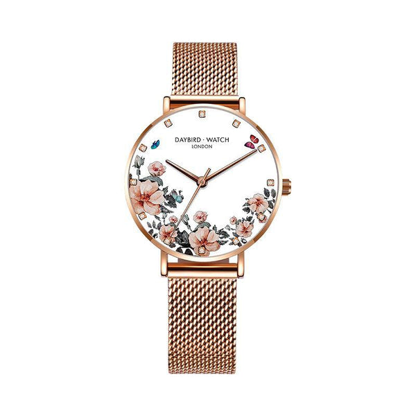 Trendinggate.com Elegant white diamond mesh belt Z.G.TWatch Lady Bees Wrist Garden Series Chatter with Light Luxury French Ladies Watch