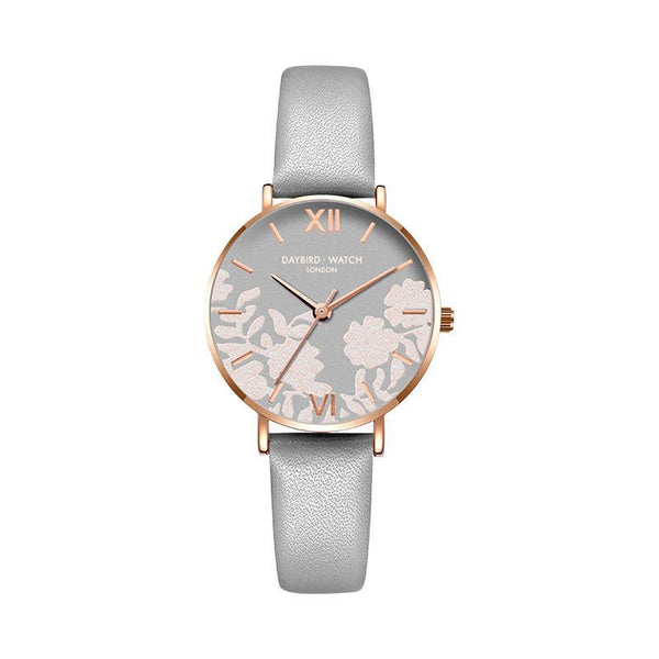 Trendinggate.com Temperament Grey Belt Z.G.TWatch Lady Bees Wrist Garden Series Chatter with Light Luxury French Ladies Watch