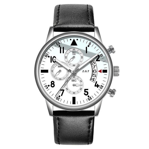 Trendinggate.com White Belt with Steel Shell ZGTExplosions men's watches new pilots waterproof sports multifunctional trend student business quartz watches