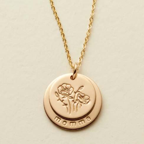 Nora Disc Necklace - Momma