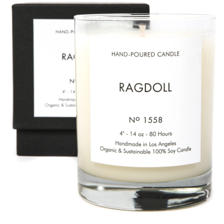 Rag Doll HAND-POURED CANDLE No 1558