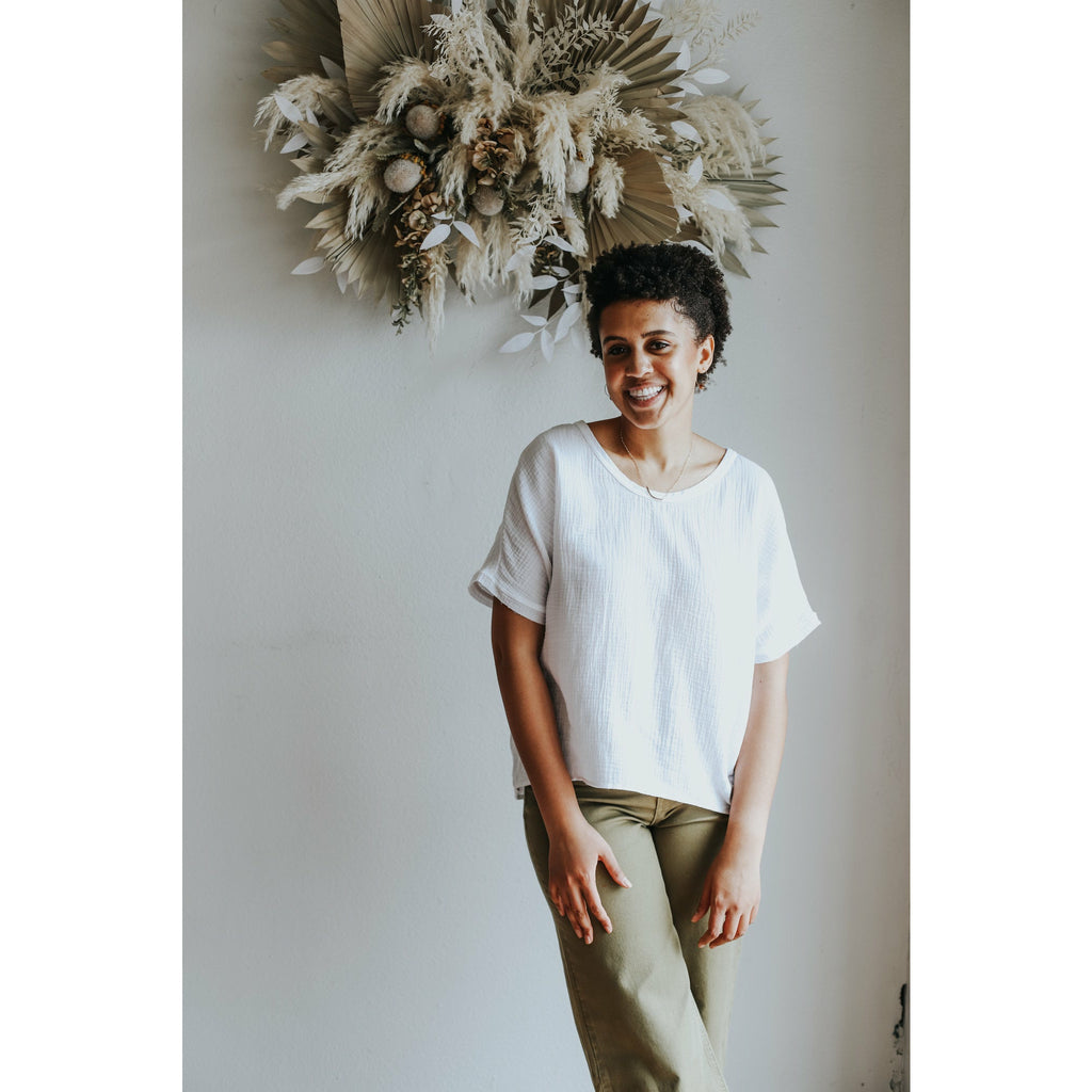 Effortless Tunic Top - Clay