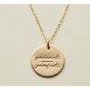 Present-Perfect Disc Necklace- 5/8""