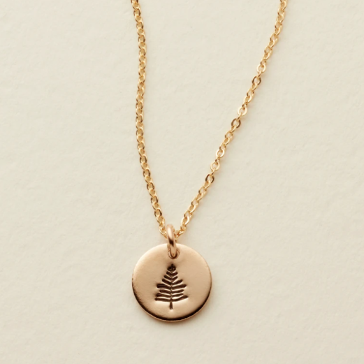 Grounded Disc Necklace