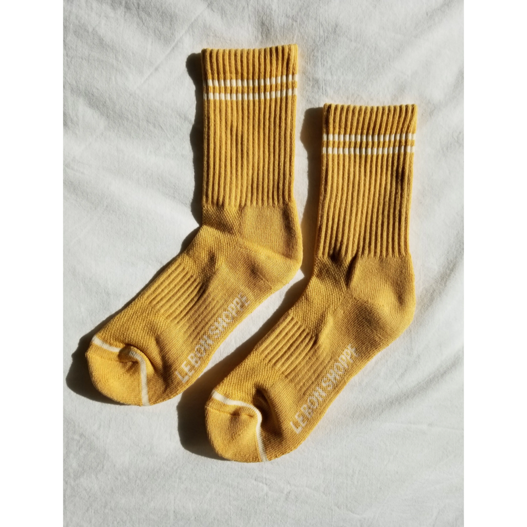 Le Bon Shoppe Boyfriend Socks- Butter