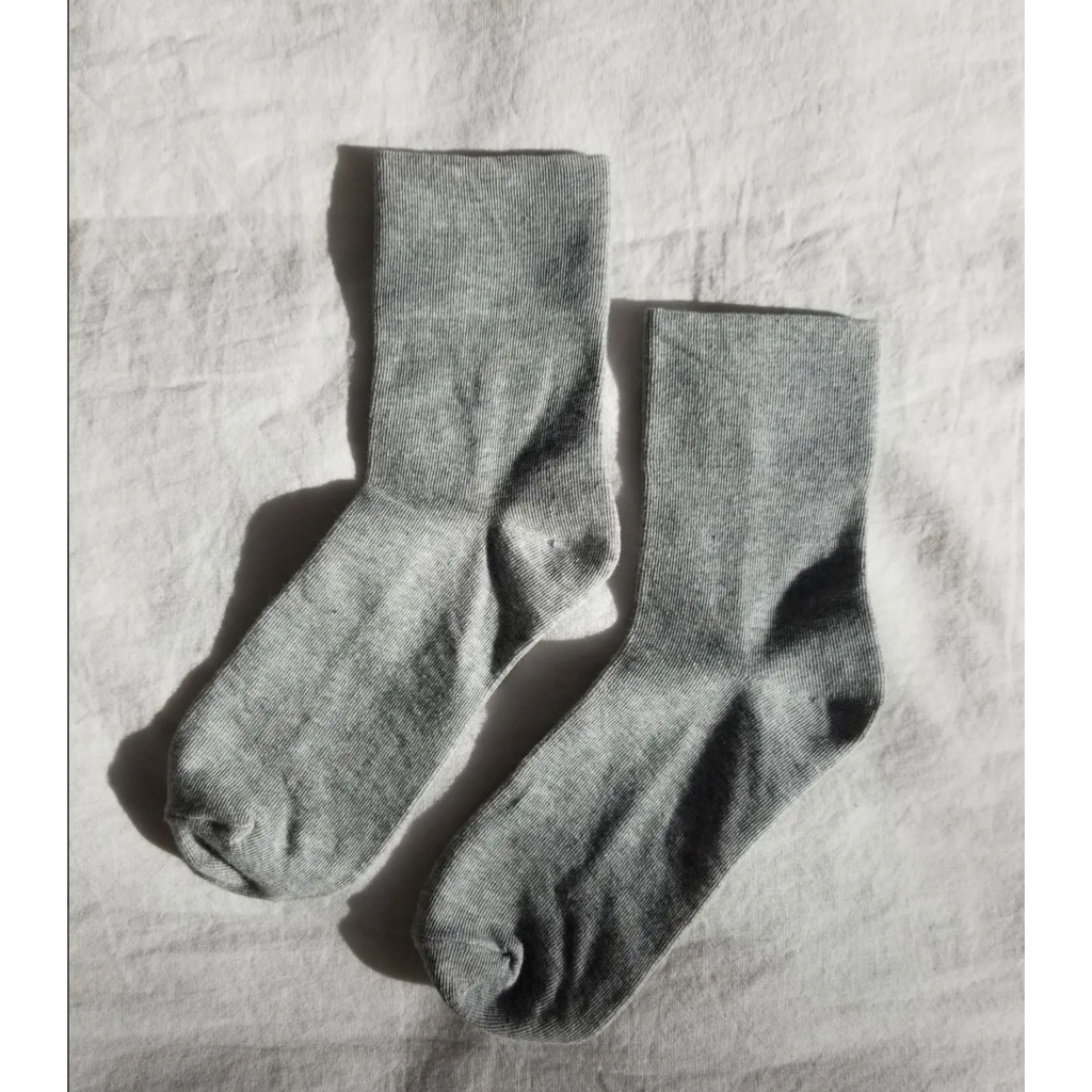 Le Bon Shoppe Sneaker Socks  - Heather Grey