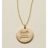 Faith-Fear Disc Necklace- 5/8""