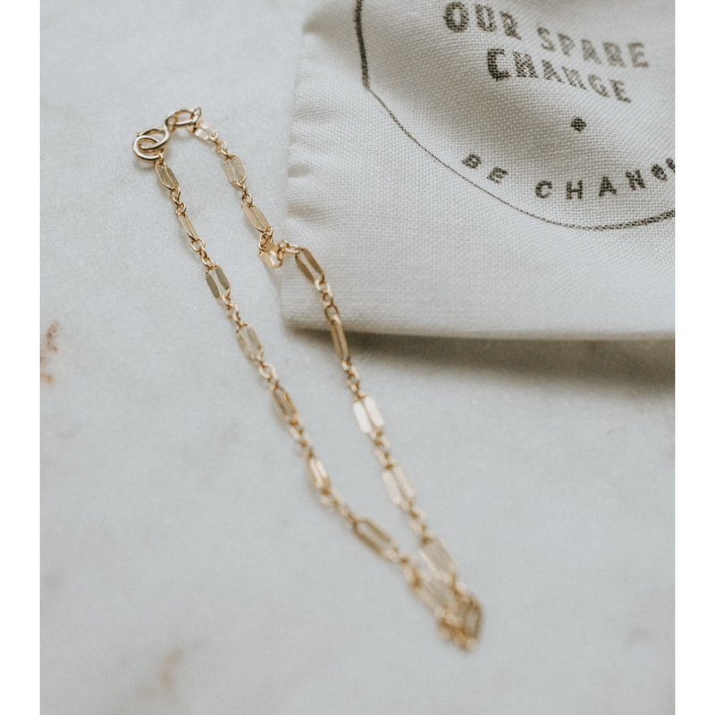 Our Spare Change Luca Chain Bracelet