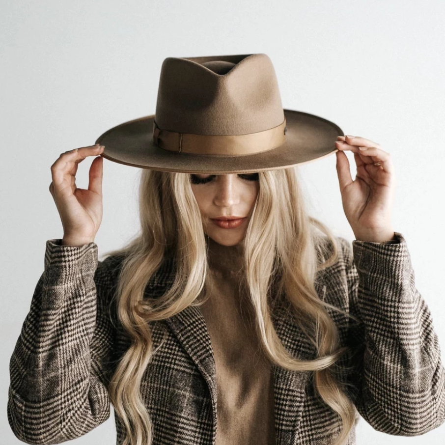 Gigi Pip Monroe Brown - Women's Rancher Hat