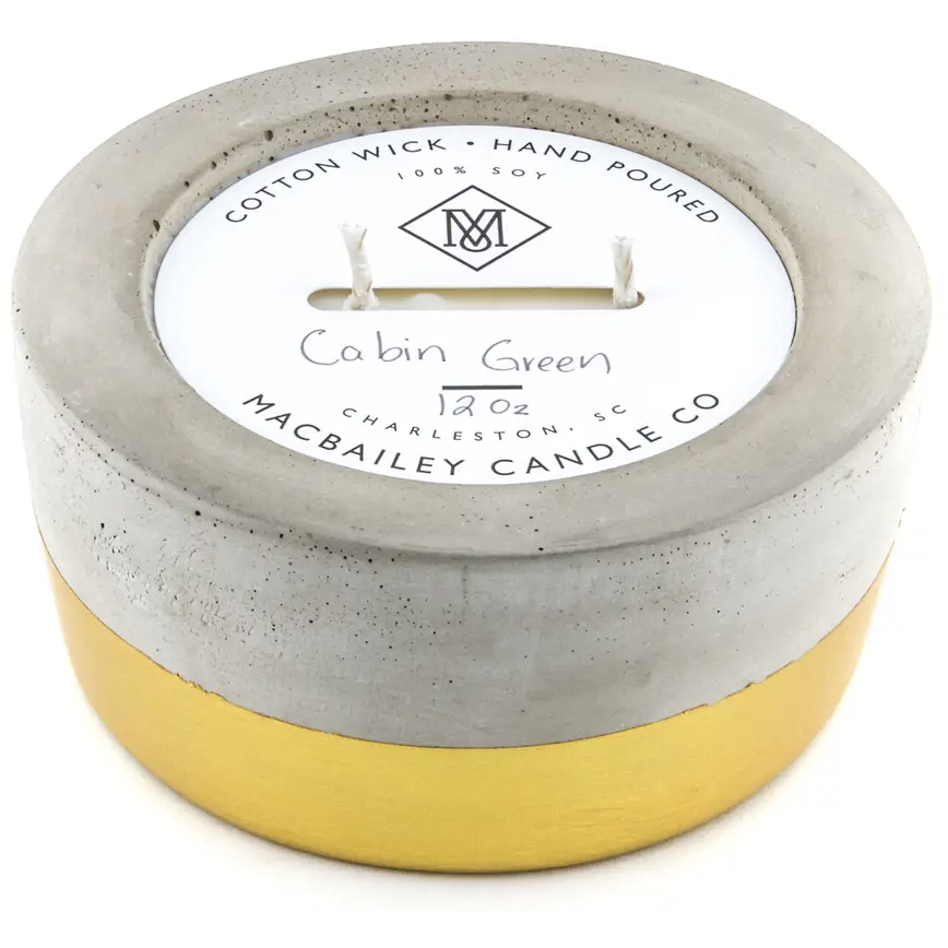 Cabin Green 12 oz Gold Dipped
