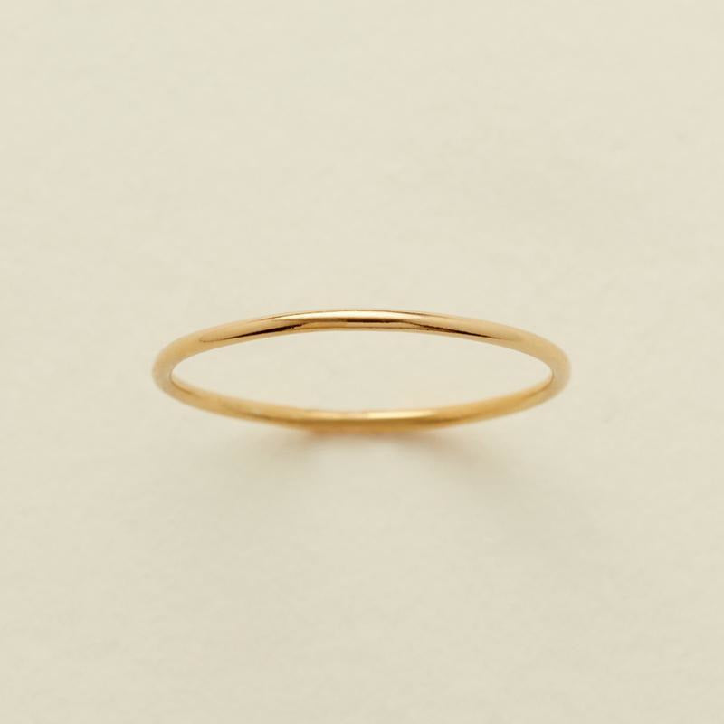 Round Stacking Ring Gold