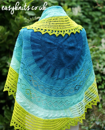 Travelling Ammonite Shawl