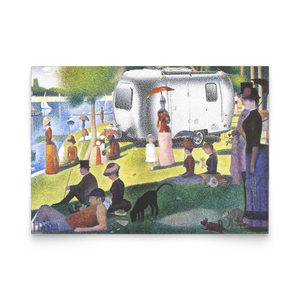 Sunday in the Park Seurat Note Cards