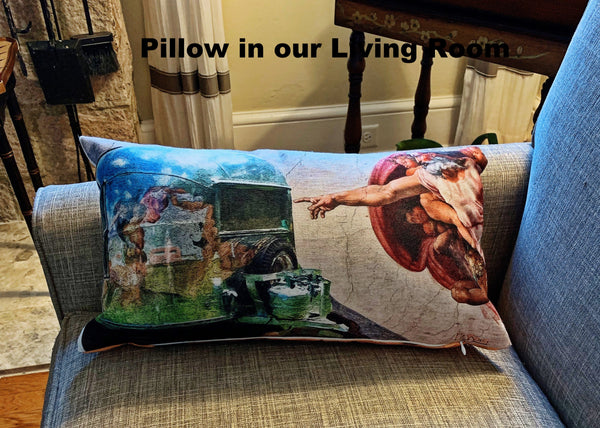 And God Created Airstream Throw Pillow