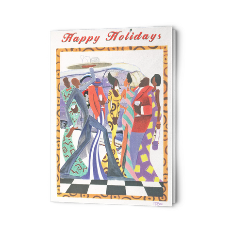 Christmas Happy Holidays Swanky Party African Americans