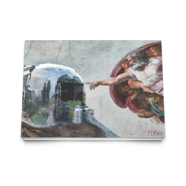 Michelangelo And God Created Airstream