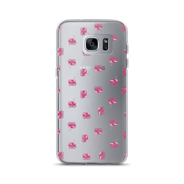 Samsung Galaxy Phone Case, Flamingos Transparent