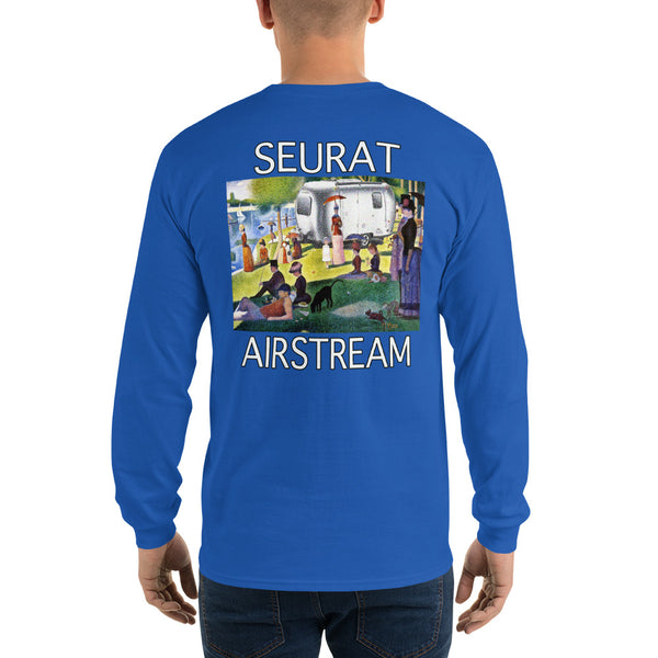 Seurat Sunday in Park (Back) Long Sleeve T-Shirt