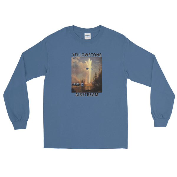 """Be Careful When You Visit Old Faithful"" Long Sleeve T-Shirt"