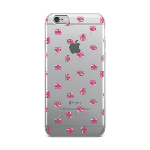 Transparent iPhone Case Flamingos Everywhere