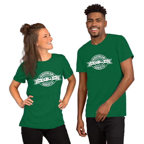 Airstream Addicts Dark Short-Sleeve Unisex T-Shirt