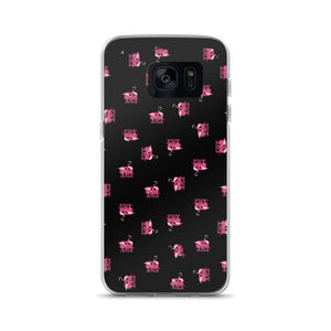 Samsung Case, Flamingos Black
