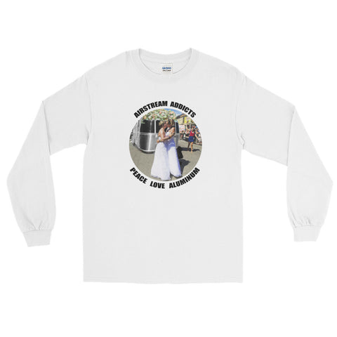 Two Brides Peace Love Aluminum Long Sleeve T-shirt