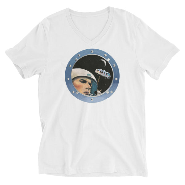 Bowie in Space Short Sleeve V-Neck T-Shirt