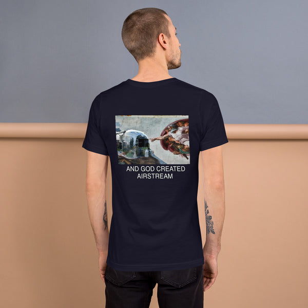 BACK GOD CREATED AIRSTREAM Short-Sleeve Unisex T-Shirt