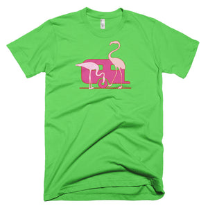 Pink Flamingo Airstream Short-Sleeve T-Shirt