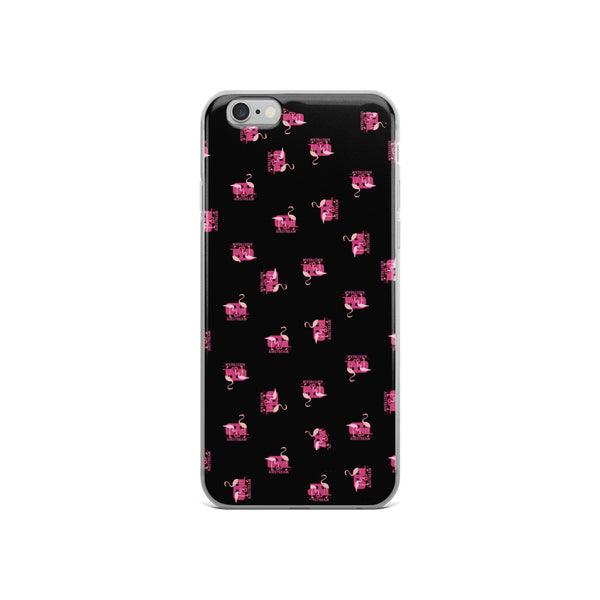 iPhone Case Flamingos, Black