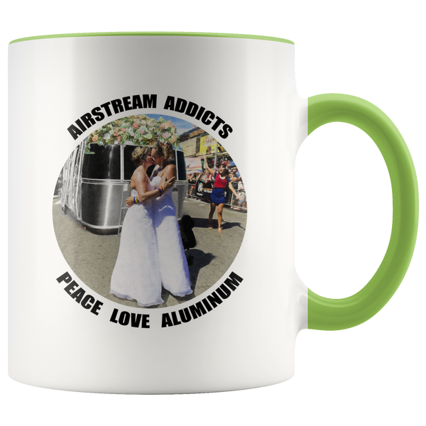 Two Brides Airstream Addicts Coffee Mug