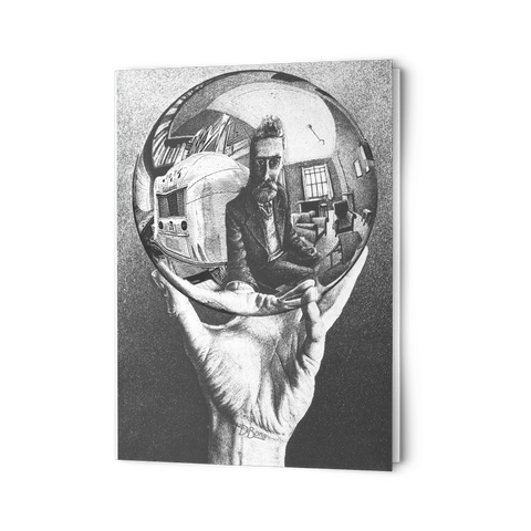 Escher Hand Holding Globe Airstream Notecard