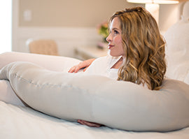 Pregnancy Pillow® Gray Body Pillow - Melon Bellies
